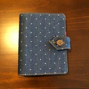 Filofax Denim Dots Pocket Organizer